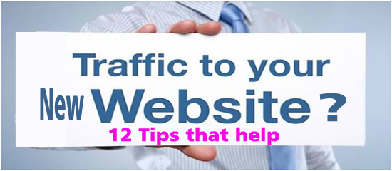Generate traffic to your new website