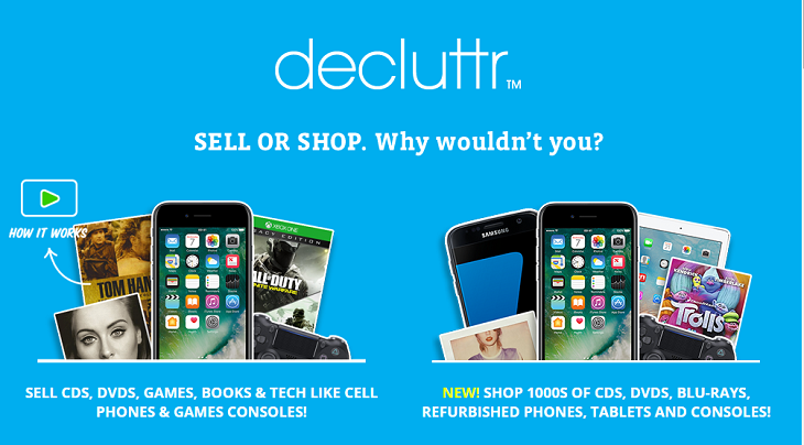 Decluttr selling stuff online and make money