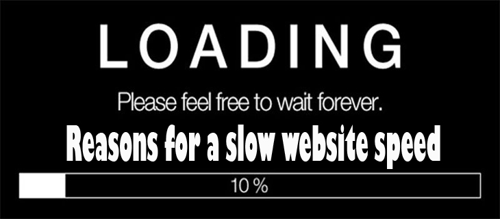 Reasons for a slow website speed