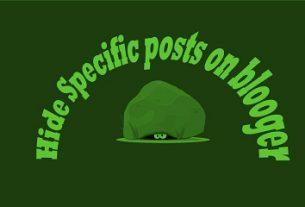 Hide specific posts: Akeentech blog