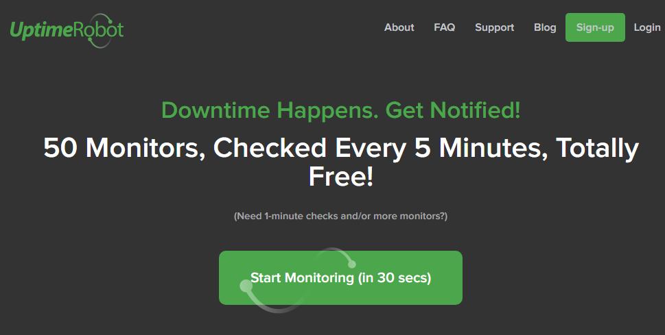 uptime website alert